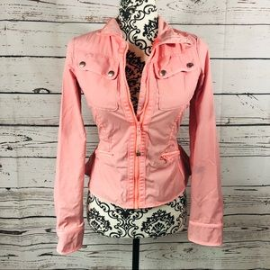 Lululemon Out & About Peplum Jacket Bleached Coral